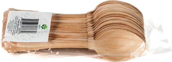 כף עץ עלי דקל 25 יחידות